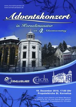 Plakat zum Advent